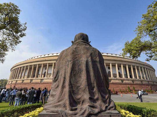 संसद भवन में महात्मा गांधी की प्रतिमा (फाइल फोटो)