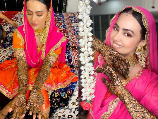 sana khan shares pics from her mehendi ceremony after nikaah with mufti anas sayied