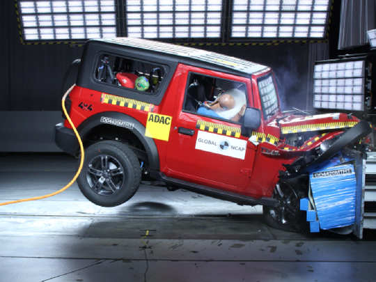 Mahindra Thar Crash Test