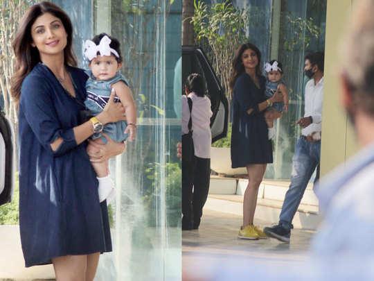 बेटी समीशा के साथ शिल्पा शेट्टी