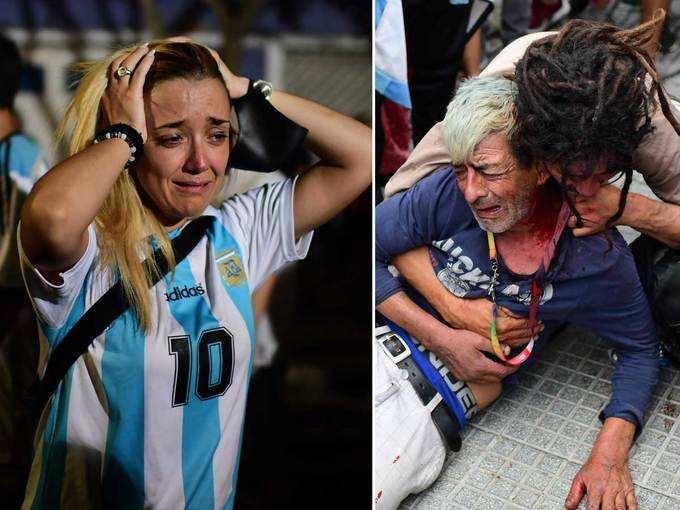 फुटबॉल के जादूगर को अंतिम विदाई, रोते दिखे लोग