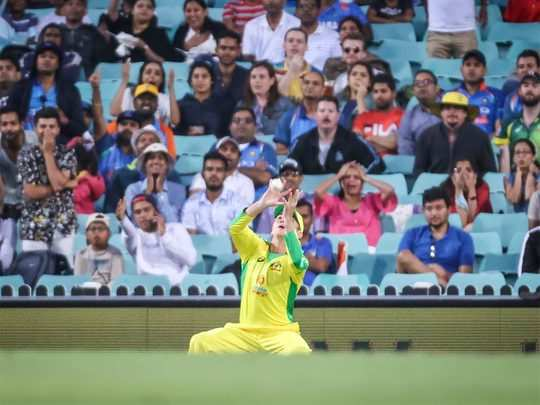 australia vs india first odi match dropped catches