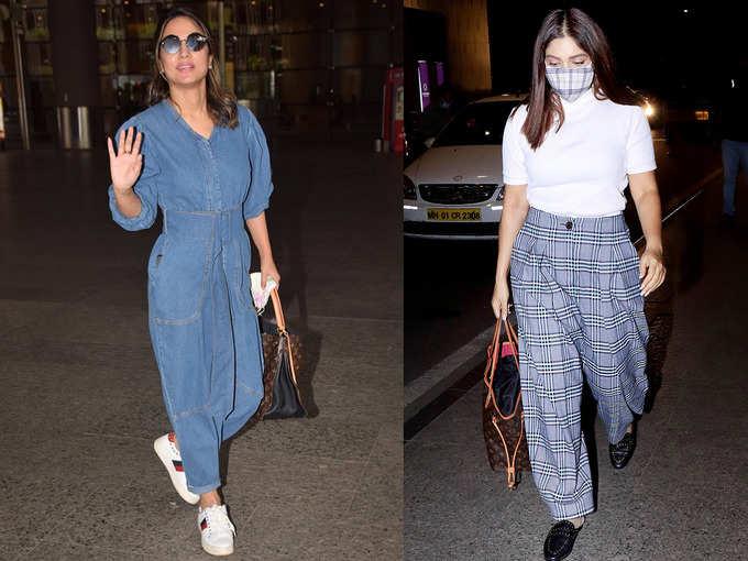 हिना खान और बहन के साथ नजर आईं भूमि पेडनेकर के एयरपोर्ट फैशन ने किया इम्प्रेस