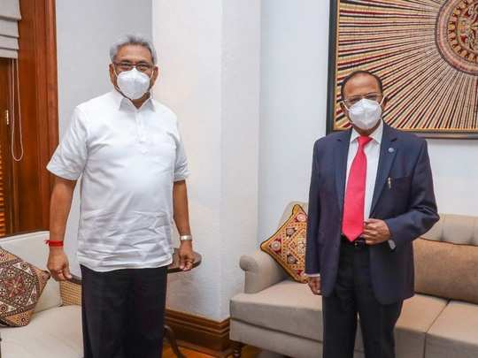 Ajit Doval and Gotabaya Rajapaksa