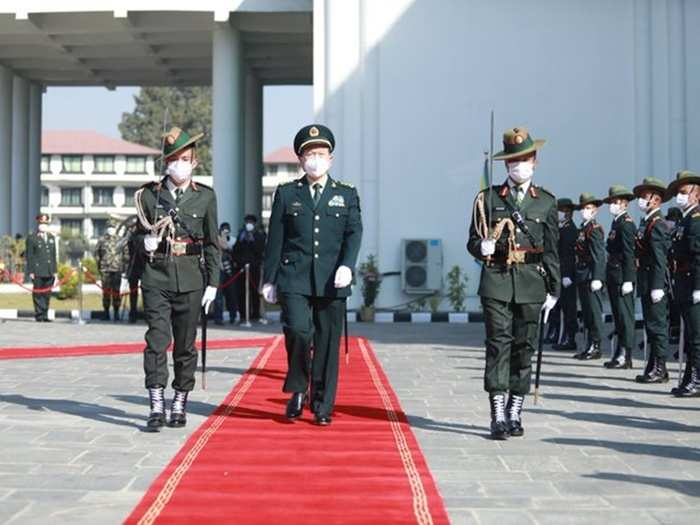 China Defence Minister in Nepal