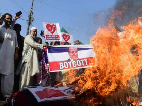 पाकिस्तान में फ्रांस के खिलाफ प्रदर्शन