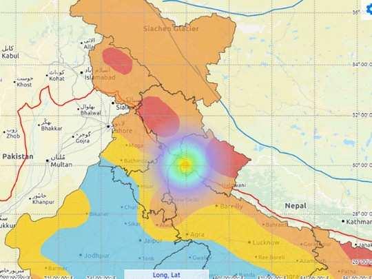 हरिद्वार में आया भूकंप ( सोर्स- नैशनल सेंटर ऑफ सिस्मोलॉजी)
