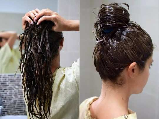 natural remedies how to make curd hair mask for frizzy hair during winter in marathi