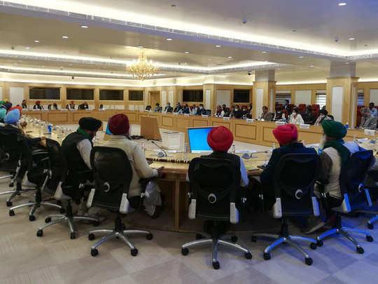 दिल्ली में किसानों की मीटिंग