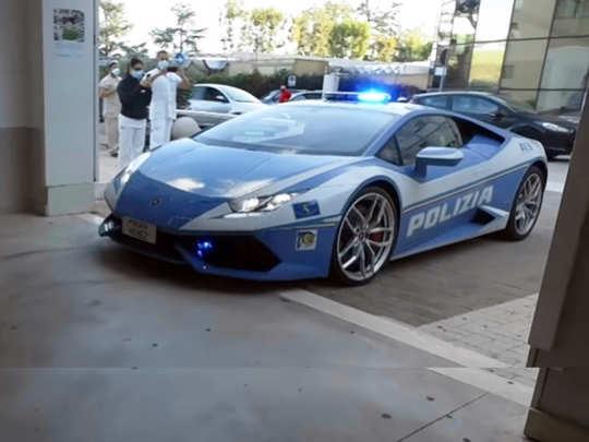 Italian Polices Lamborghini Huracan