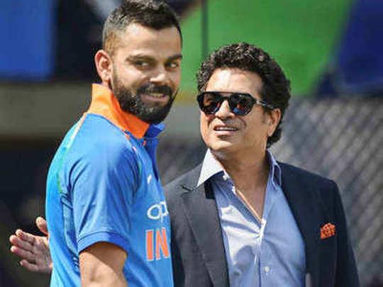 Virat Kohli and Sachin Tendulkar
