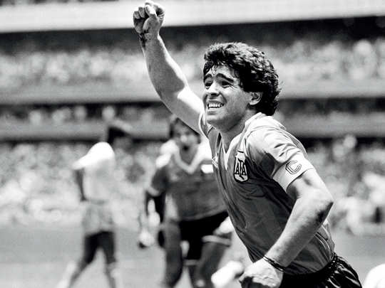 Maradonas finest moment was winning the 1986 World Cup as captain of Argentina; GETTY IMAGES