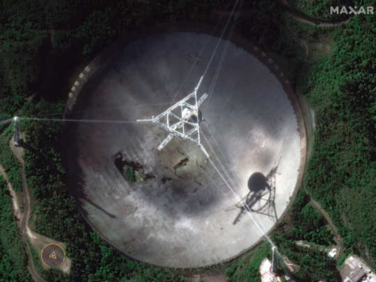 arecibo observatory one of the largest radio telescopes collapse leaves science world shattered