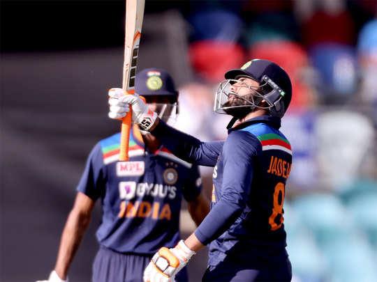Pandya-Jadeja Partnership: Ind vs Aus 3rd ODI Hardik Pandya And Ravindra  Jadeja 3rd Best Indian Partnership For 6th Wicket - हार्दिक पंड्या और  रविंद्र जडेजा ने कैनबरा वनडे में दिखाया कमाल ...