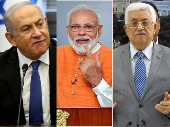 Netanyahu Modi Mehmood Abass 01