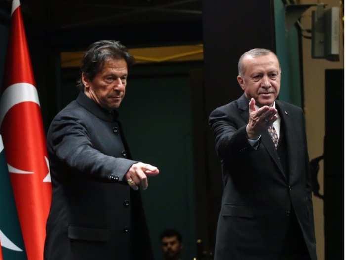 Recep tayyip erdogan with Imran Khan