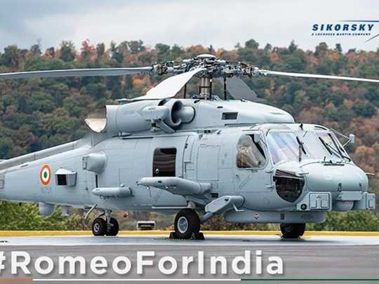 indian navy first picture of mh-60 romeo multi-role helicopter from lockheed martin amid border tension with china in ladakh