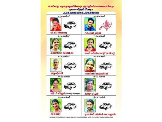 LDF Candidates in Kadamakkudu Panchayat