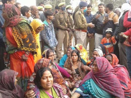 Villagers demonstration