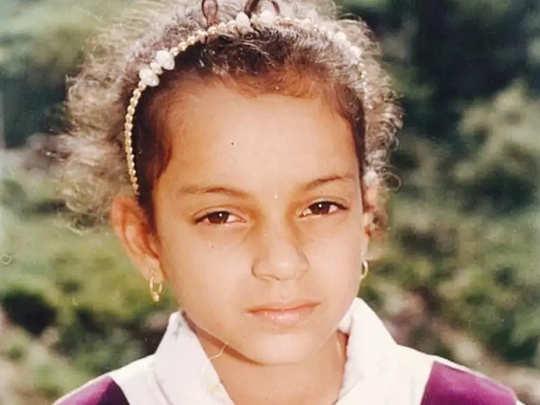 Kangana Ranaut childhood days