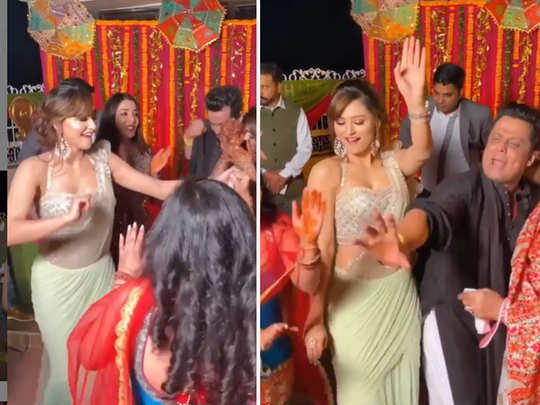 Urvashi rautela doing bhangra in saree
