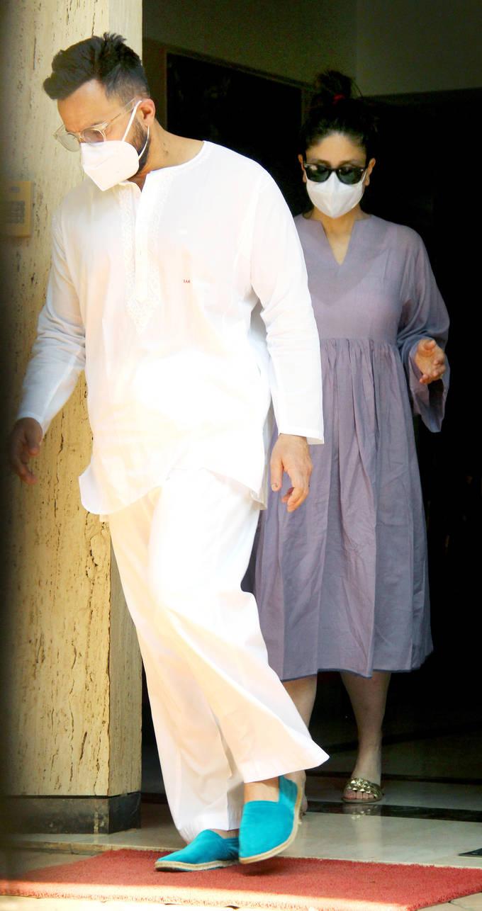 सैफ के साथ बांद्रा में दिखीं करीना कपूर