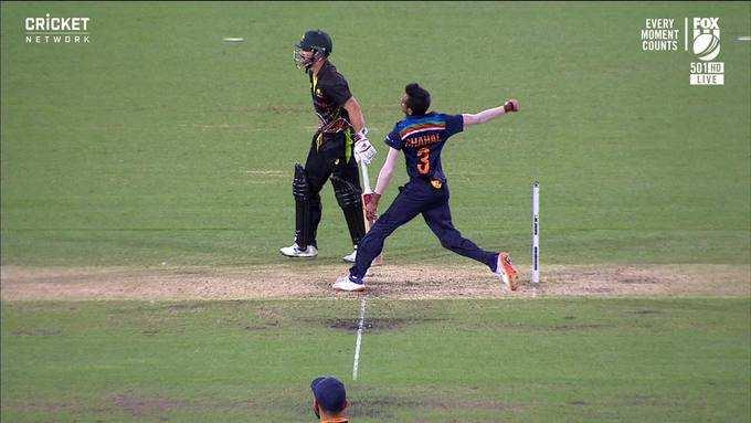 युजवेंद्र चहलच्या चुकीचा भारताला फटका (सौजन्य- ऑस्ट्रेलिया क्रिकेट)