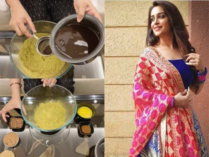 tv actress dipika kakar shares tips of how she mix mehandi or henna for long and strong hair