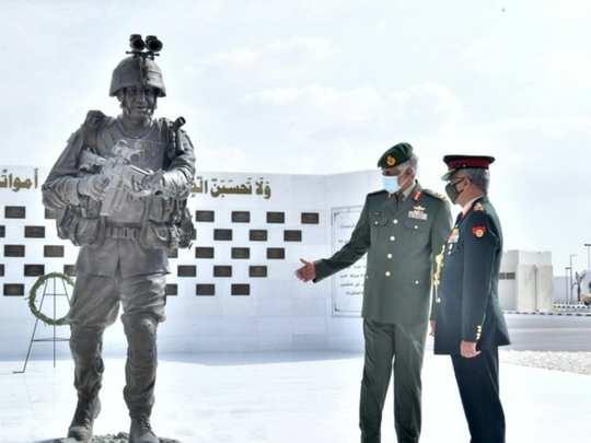 indian army chief general manoj mukund naravane receives grand welcome in uae, pakistan worries