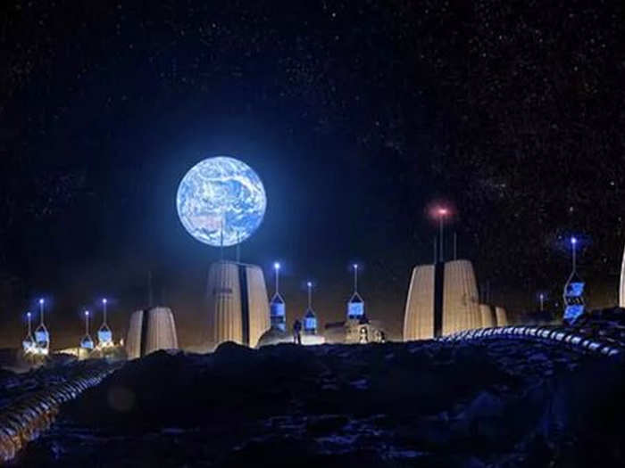 european space agency releases photos of a future lunar colony