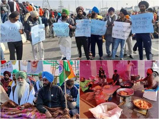 farmers protest in delhi today kisan fasting today but langar continues
