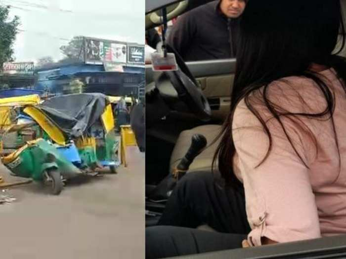 indore girl crushed auto : girl running fortuner in speed of 100 km created furore in indore, see the pictures