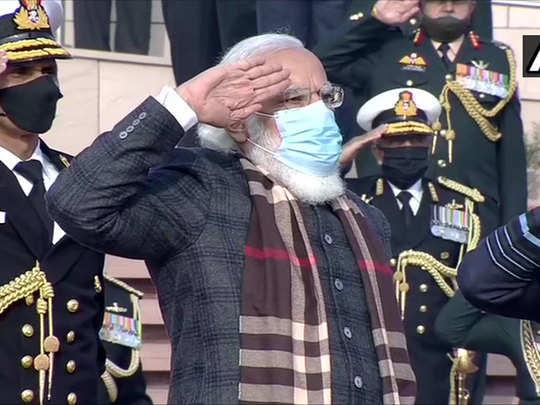 vijay diwas news prime minister narendra modi pays tribute at national war memorial