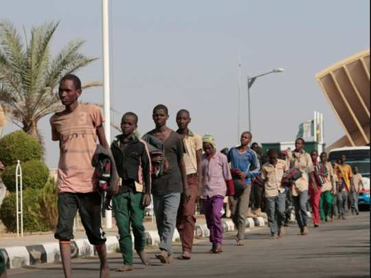 freed nigerian schoolboys return home, tell of beatings and hunger atrocities of boko haram