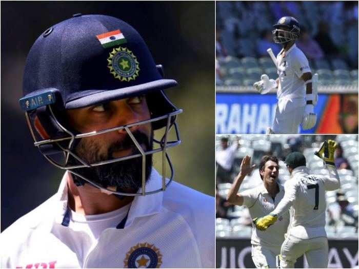 aus vs ind 1st test day 3 team india batting order collapse worst on australian soil