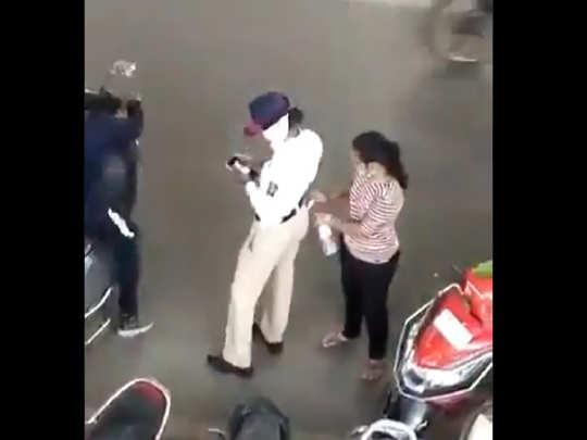 Traffic cop taking bribe