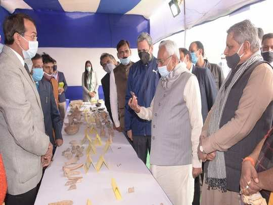 cm nitish kumar visit bhagalpur for see remains of ancient civilization​
