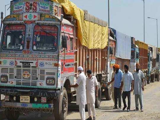 किसान आंदोलन का असर ट्रकों की आवाजाही पर! (File Photo)