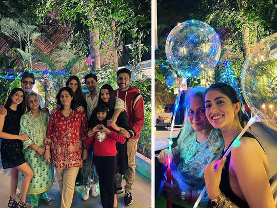 navya naveli nanda shares pictures of celebrating christmas with bachchan family