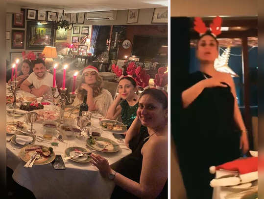 kareena kapoor khan and saif ali khan hosted a christmas celebration at their residence pictures viral