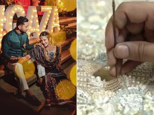 Gauahar Khan Wedding Lehenga
