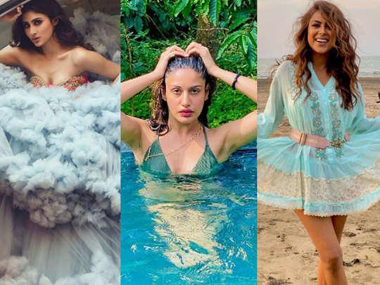 mouni roy surbhi chandna nia sharma shares glamorous pictures on social media