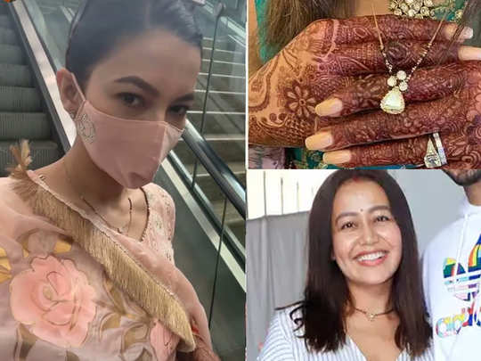 not only gauhar khan many bollywood celebs who caught our attention for unique mangalsutra