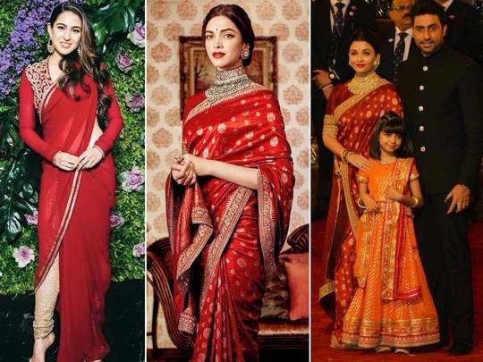 sara ali khan-deepika padukone-aishwarya rai bachchan red and white dress fashion faceoff