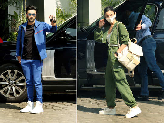 alia bhatt ranbir kapoor spotted at airport in stylish look with family deepika ranveer gets papped too
