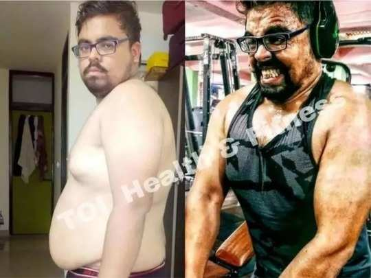 weight loss transformation tips 23 year old student reduces 40kg by following strict diet and workout
