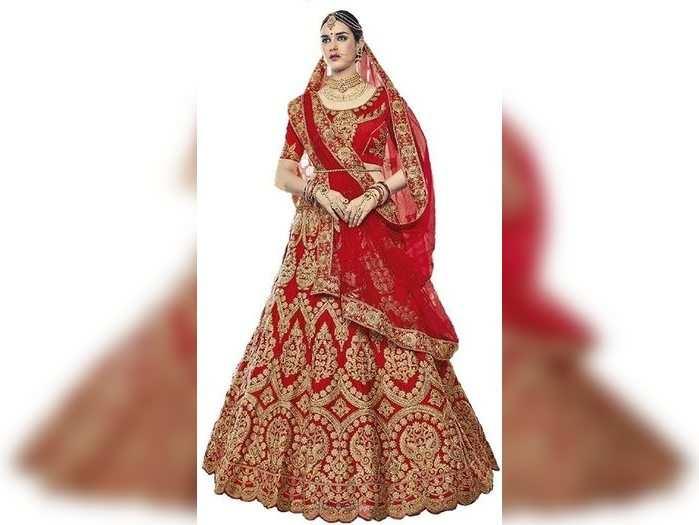 जल्द बनने वाली हैं दुल्हन तो Amazon से खरीदें ये Bridal Lehenga