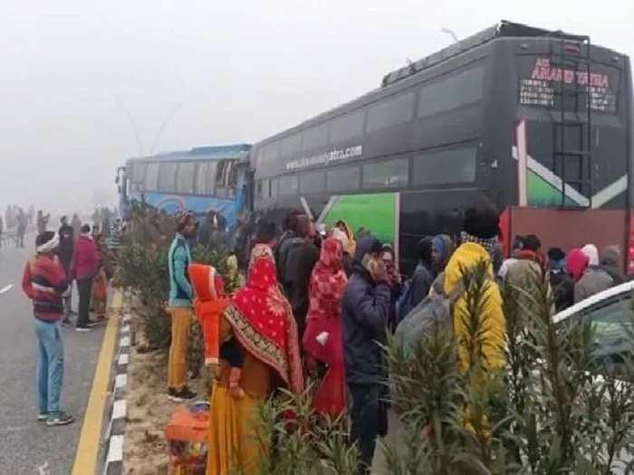 agra bus accident.