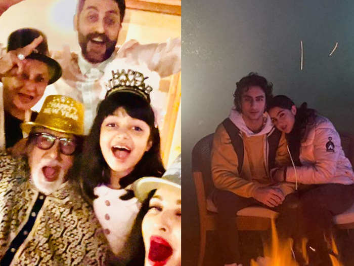 amitabh bachchan ishwarya rai to ananya panday this is how bollywood celebs celebrated new year 2021