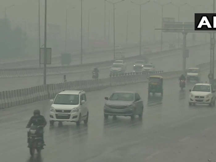 light rain in delhi ncr amid severe cold wave in north india including national capital